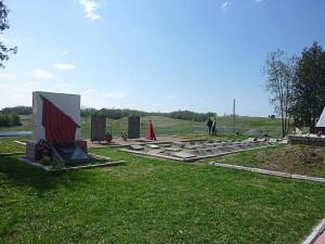 Братское кладбище советских воинов, погибших 14 января 1944 г. во время боя за село Монаково