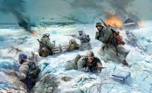Германская пехота зимой в Демянском котле