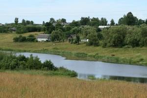 Река Зилупе - граница между Россией и Латвией