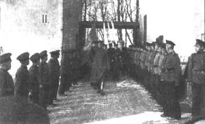 Торжественный вынос Полоцкого знамени из музея 1-го Русского кадетского корпуса
