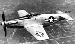 Американский истребитель Норт Америкэн Р-51 Мустанг. 1944 г.