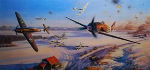 Бой германских Фокке-Вульфов-190 и британских Спитфайров польского полка 1 января 1945 г.