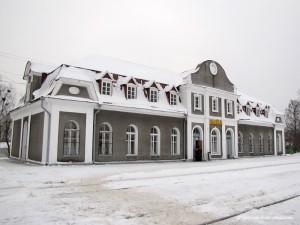 Вилейка. Железнодорожный вокзал зимой.