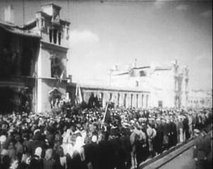 Кишинёв, 1944 г. Репатрианты на перроне вокзала.