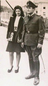 ** FILE ** In this 1944 file photo, Dinko Sakic, right, is seen with his wife Nada at an unknown location in Croatia. Sakic, the last known living commander of a World War II concentration camp, died overnight in a Croatian hospital while serving a 20-year sentence for war crimes, prison officials said Monday, July 21, 2008. He was 87. (AP Photo/La Nacion, file) ** ARGENTINA OUT **