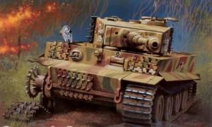 Подбитый германский танк Панцер-VI Тигр