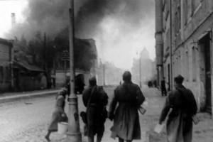Уличный бой в Риге.
