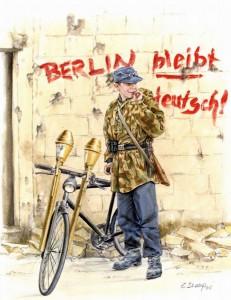 Берлин останется немецким - последний лозунг вермахта. Берлин, апрель 1945 г.