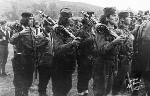 Четники - югославские партизаны-монархисты. 1945 г.