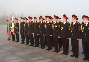 Минск. Делегация белорусских кадет перед отъездом в Сербию. 29 апреля 2014 г.