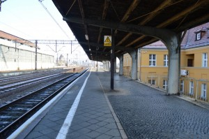 Польша, Легница. Перрон, к которому прибывали пассажирские поезда из СССР.