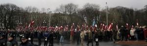 Рига. Шествие ветеранов Латышского легиона СС и их сторонников.
