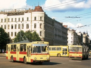 Троллейбусы на улицах Риги. 1993 г.