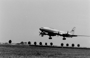 Ту-114 отправляется по маршруту Новосибирск - Москва. 1970 г.