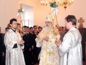 8 мая 2006 г. Освящение училищного храма Митрополитом Минским и Слуцким, Патриаршим Экзархом Всея Беларуси Филаретом