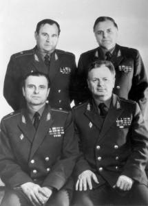 Генералы первого выпуска: Г. В. Прокопчик, П. Г. Чаус, В. А. Денисенко, А. Я. Гулько. 1989 г.