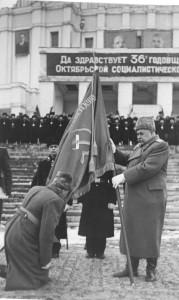 Вручение Боевого Знамени училищу. 6 ноября 1953 г.