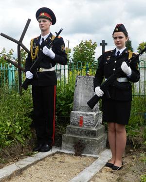 На могиле генерал-лейтенанта Я.Д.Юзефовича