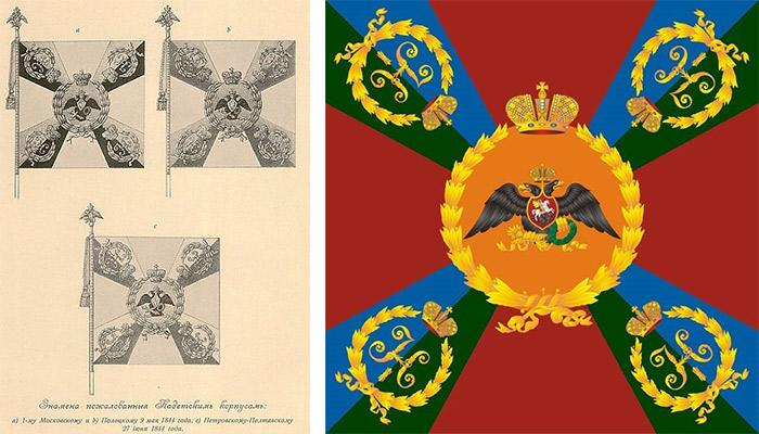 Изображение Знамени Александровского Брест-Литовского кадетского корпуса.