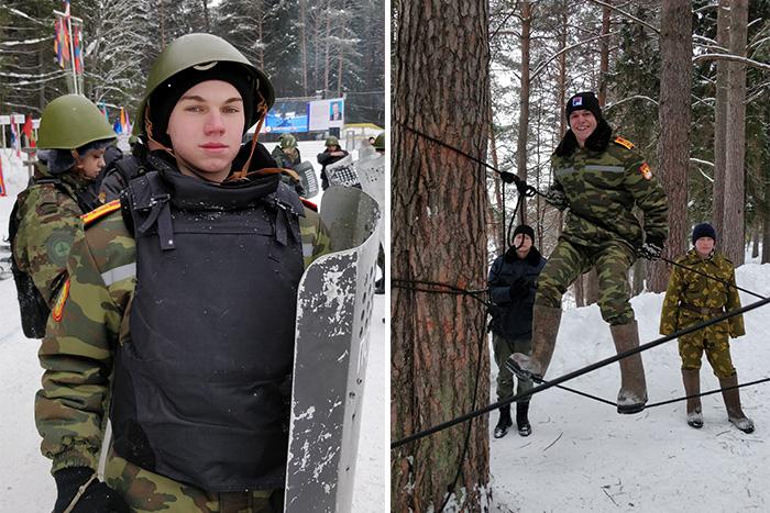 Во время учебных занятий Кирилл Борисов и Шемет Роман